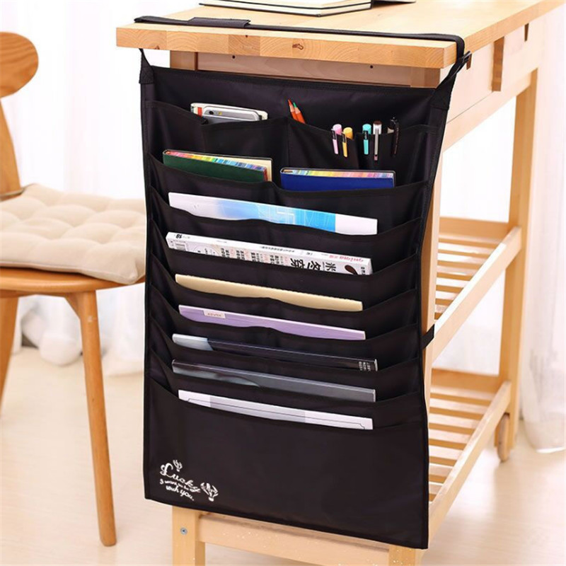 Deli Multi-function Desk Hanging Book Bag Adjustable Book Storage Bag Rack Storage Book Storage Has Lost The Hanging Book Bag