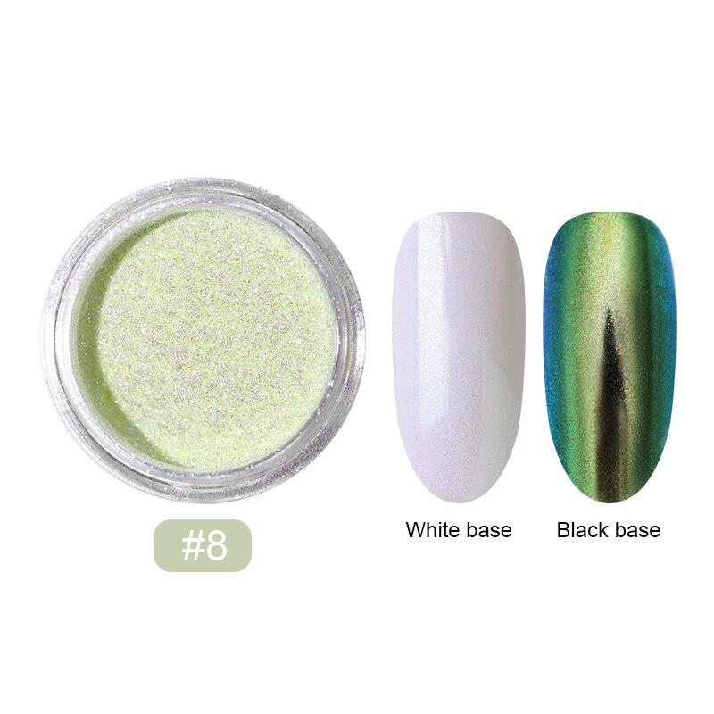 0,2 г/кор. зеркало-хамелеон, лазерные блестки для ногтей, порошки, эффект Auroras, дизайн ногтей, хромированный пигмент, пыль, сделай сам, дизайн, украшение - Цвет: 17