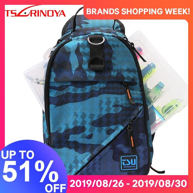 TSURINOYA Fishing Bag E1 32*21*9cm Waterproof Multifunctional Lure Fishing Tackle Pack Large Capacity Bait Box Trave Outdoor Bag
