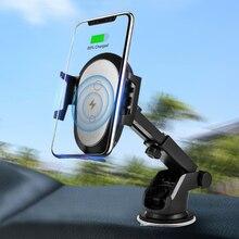Rovtop cargador rápido de teléfono para coche, Sensor infrarrojo de gravedad automática, Qi, 15W, para iPhone, Samsung, HUAWEI, soporte de teléfono para coche