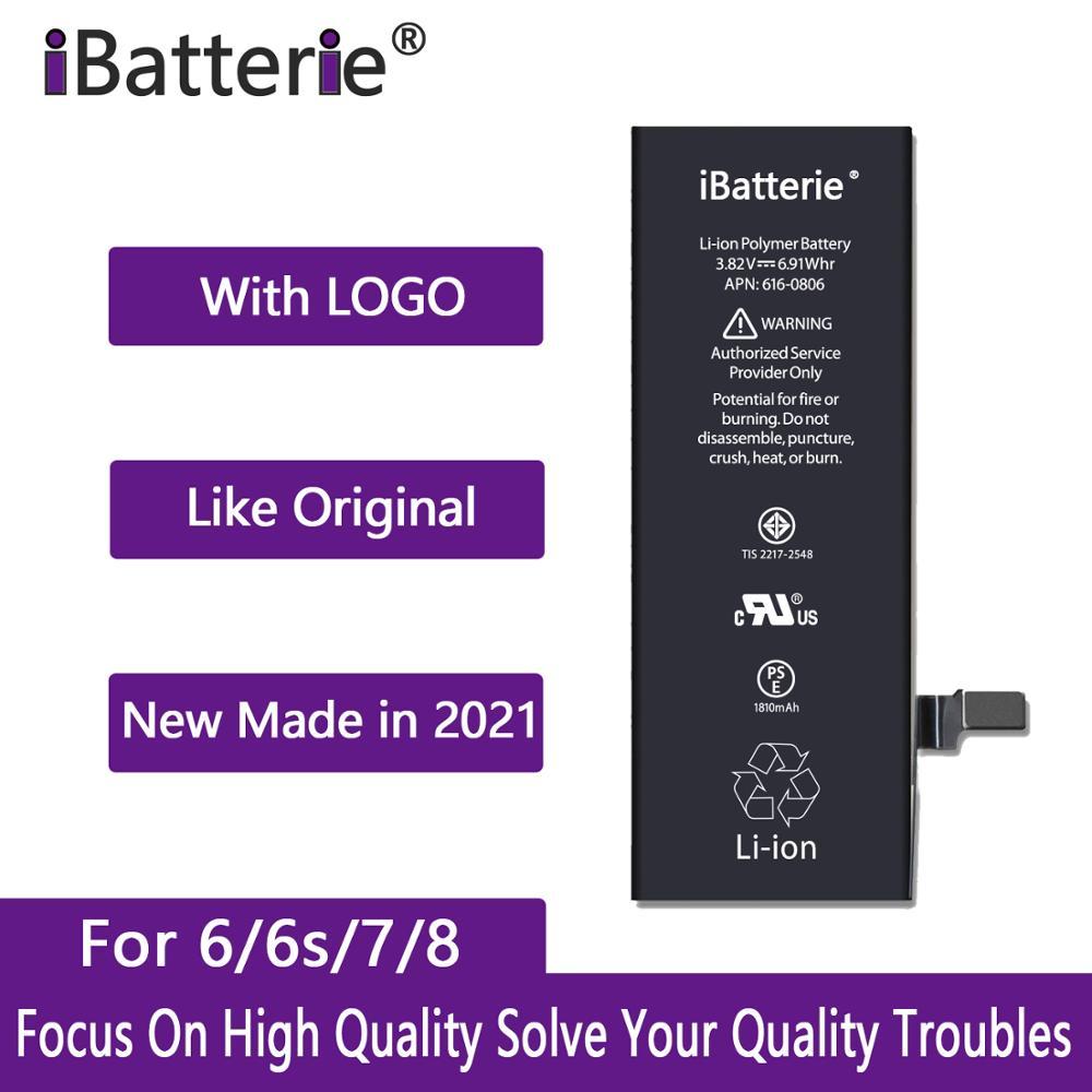 10 pçs/lote iBatterie AAA Qualidade Bateria Para Apple iPhone 6S 6 7 8 Mais SE 7 6Plus Plus Substituição Bateria Para iPhone 7 6S G