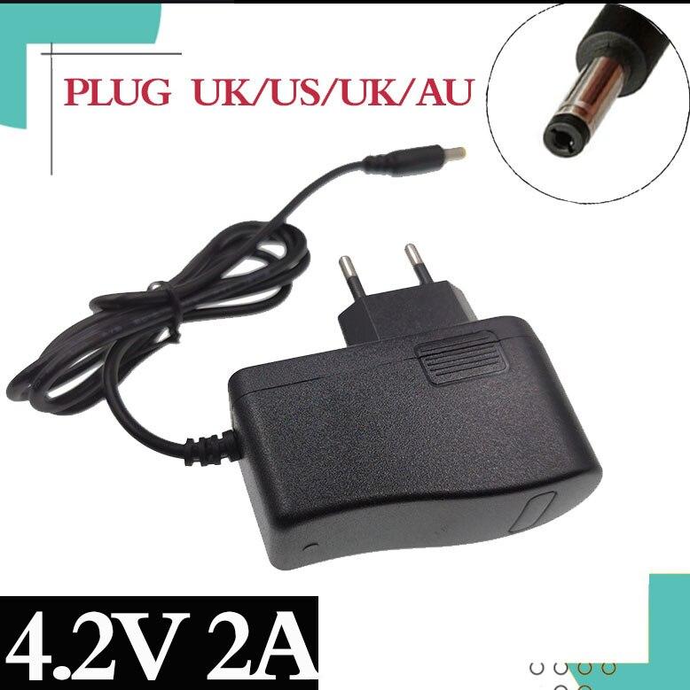 4,2 V 2A 18650 литиевая батарея зарядное устройство 1S 18650 батарея Портативное настенное зарядное устройство DC 5,5*2,1 мм