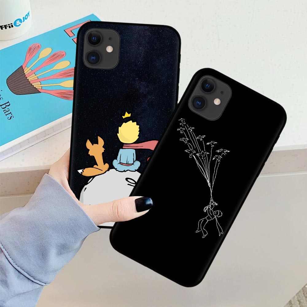 Cartoon re Il Piccolo Principe terra spazio di volpe Copertura Della Cassa Del Telefono Del Silicone Per il iPhone 11 Pro MAX SE 5s 6 6s 7 8 Più di X ...