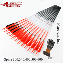 цена на Archery Carbon Arrows ID6.2mm 5inch Turkey Feather arrow Point Tips 75gr Compound Traditional Recurve Bow Hunting  arco e flech