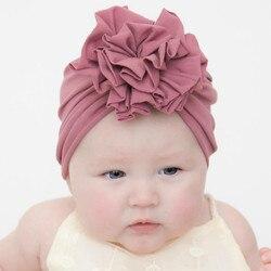 Шапка для новорожденных, для маленьких мальчиков и девочек: одноцветный завязанный шляпу Кепки аксессуары bebes кукла трансфер до fille шапочка-...