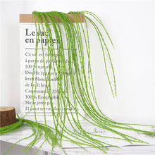 Artificial plant plastic flower green grass Home Decor fake plant for wedding party garden fake leave plant artificial flower(China)