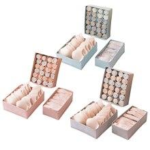 3pcs/set Non-woven Underwear Storage Box Fabric Household Drawer Type Underwear Storage Box Bra Socks Three-in-one Storage Box