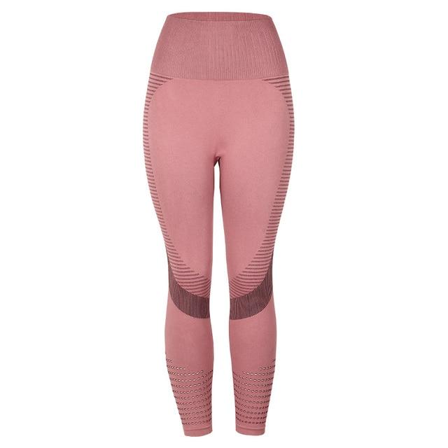 SVOKOR High Waist Fitness Leggings Women Sexy Seamless Leggings Hollow Printed Workout Pants Push Up Slim Elasticity 7