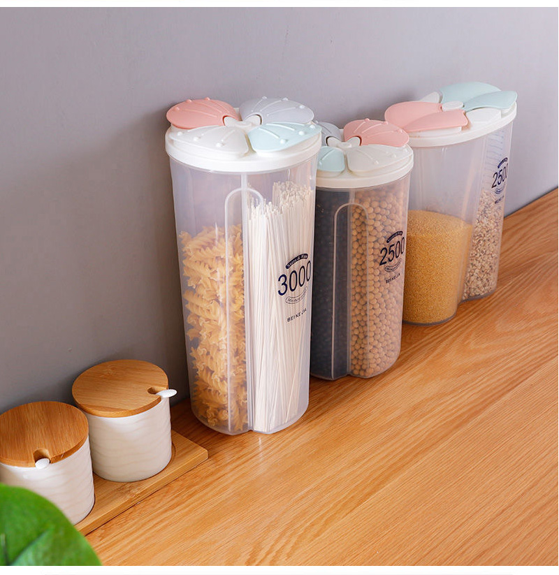 Kitchen Storage Box Food Storage Box Kitchen Supplies Grain Storage Tank  Moisture-Proof Sealed Cans Transparent Organizers