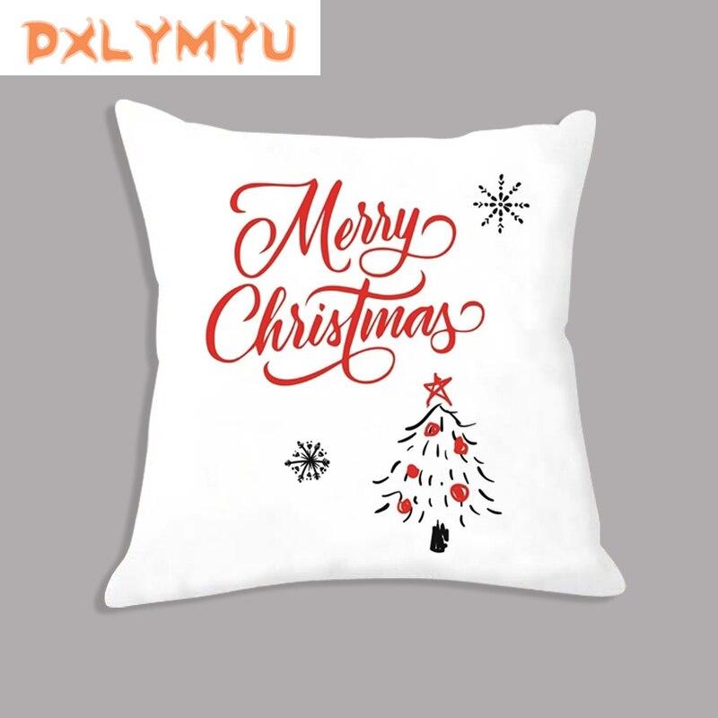 Christmas Decoration Pillowcase Bear Rabbit Snowman Pillow Xmas Gift Plush Fabric Decorative Cushion For Sofa Party Supplies