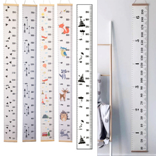 Hängen Leinwand Höhe Kinder Wachstum Chart Wand Decor Herrscher Mit Holz Rahmen Kinder Höhe Rekord Für Baby Messen