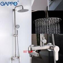 GAPPO 304 набор для душа из нержавеющей стали Faucetsset холодной и горячей воды Анти-скальдинг Смесители для ванной комнаты