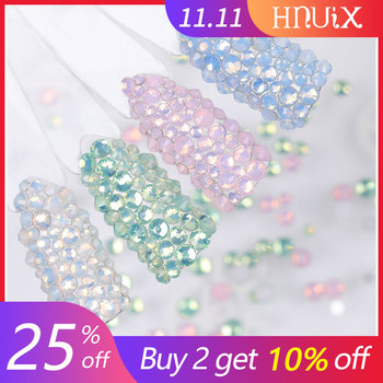 450pcs / Pack Mix size pink opal crystal Nail Art rhinestones for 3d charm flat glass Non Hotfix diy nail decorations mix sizes opal colors crystal glass non hotfix flatback rhinestones strass nail art nails accessoires nail art decoration