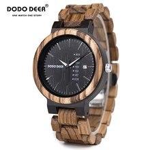 DODO DEER Wood Men Watch erkek kol saati Fashion Luxury Mini