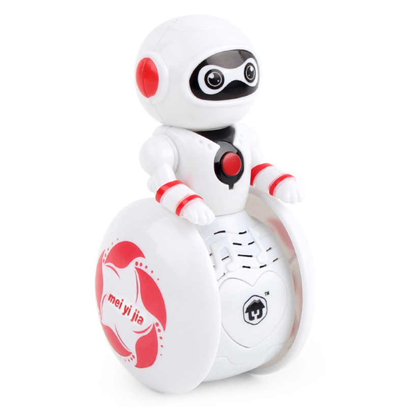 Smart Robot Tumbler Toy Sound Light Induction Educational Gift For Children Kids AN88