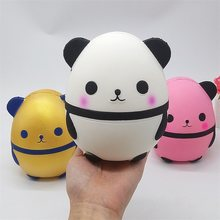 Jumbo Kawaii Panda Squishes Slow Rising Creative Animal Doll Soft Squeeze Toy Bread Scent Stress Relief Fun for Kid Xmas Gifts(China)