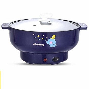 220V Multifunctional Electric Cooking Pot Machine Household Mini Hot Pot Multi Cooker With Steamer EU/AU/UK/US Plug 110 220v 32 grids commercial electric kanto cooking machine oden machine wooden anti scald spicy hot pot meatball eu au uk us
