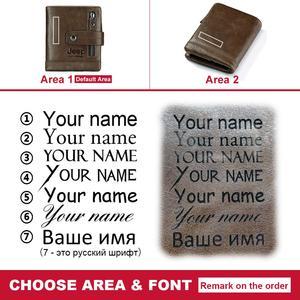 Image 5 - แกะสลักฟรี100% ของแท้หนังผู้ชายกระเป๋าสตางค์กระเป๋าสตางค์ขนาดเล็กPORTFOLIO PortemonneeชายWaletกระเป๋ากาแฟเงิน