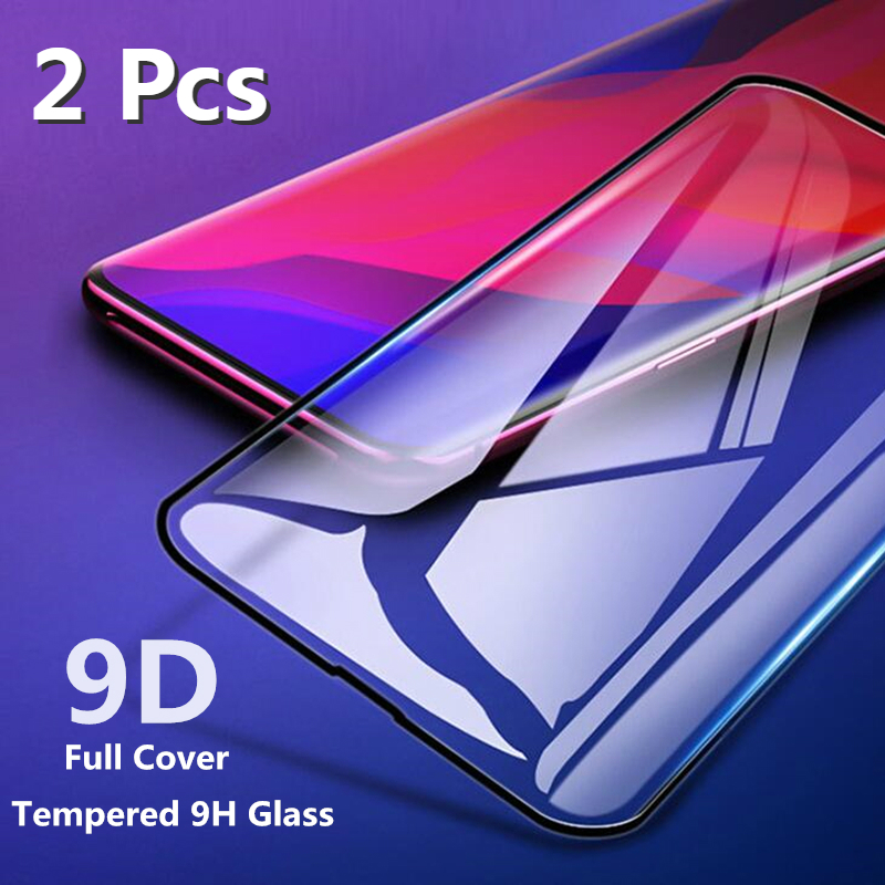 2PCS 9D Tempered Glass For Huawei Honor 9X Pro Full Glue Screen Protector on Honor 20 10 9 Lite 8A 8C 8S 8X 10i 20i Cover Film(China)