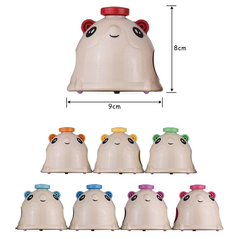 8 unids/set juego de campanillas de percusión de mano con forma de ratón de dibujos animados bonitos coloridos para niños - 3