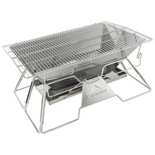 Large Portable Folding BBQ Grill Stove Campingmoon MT-3 4-5 Person Outdoor BBQ Rack 34x49cm