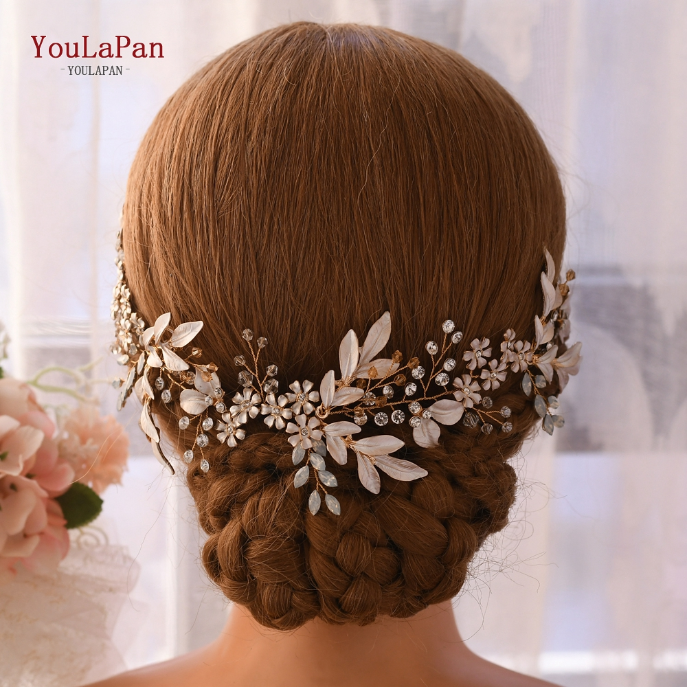 TOPQUEEN HP278 Bridal Hair Accessories For Wedding Luxurious Headbands For Women Fashion Flower Crown Bridal Hairpiece