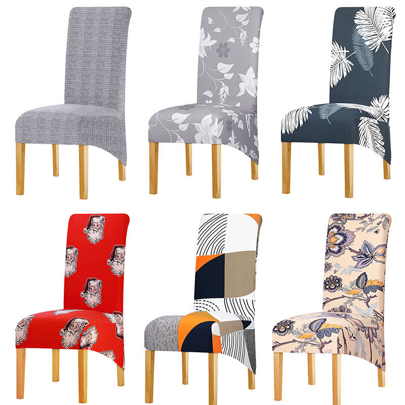 XL Size Long Back Chair Cover Large Size Europe Style High Back Seat Covers For Home Restaurant Hotel Party Banquet Office