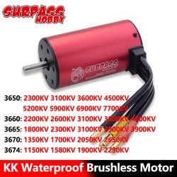 Surpass Hobby Waterproof Brushless Motor 3650 3660 3665 3670 3674 RC Car Motor for 1/8 1/10 2S 3S  RC Car Drift Racing Off-Road