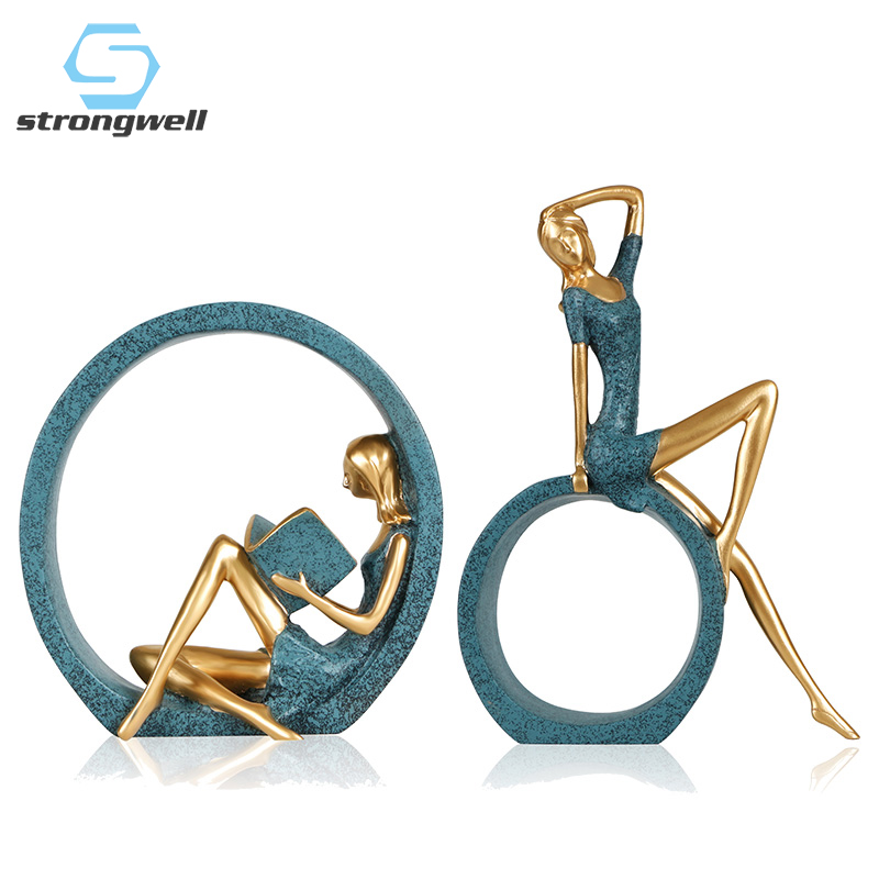 Big Discount 8a4835 Strongwell Modern Resin Reading Girl Statue Classic Figure Statue Home Decoration Accessories Office Living Room Decor Ornament Cicig Co