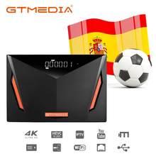 Спутниковый ресивер GTMEDIA V8 UHD DVB S2, встроенный Wi-Fi T2-MI H.265 DVB-S/S2/S2X + T/T2 со слотом для карт CA, авто Biss Better V8 POR2