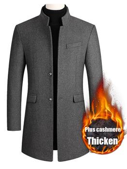 Męska wełna mieszana kurtka nowa jednokolorowa wysokiej jakości męska kurtka z wełny na jesień i zimę luksusowa marka dopasowana obcisłą marynarka tanie i dobre opinie LINLING CASHMERE COTTON CN (pochodzenie) Wiosna i jesień BIZNESOWY Elegancko na luzie Pełne REGULAR STANDARD Ze sztruksu