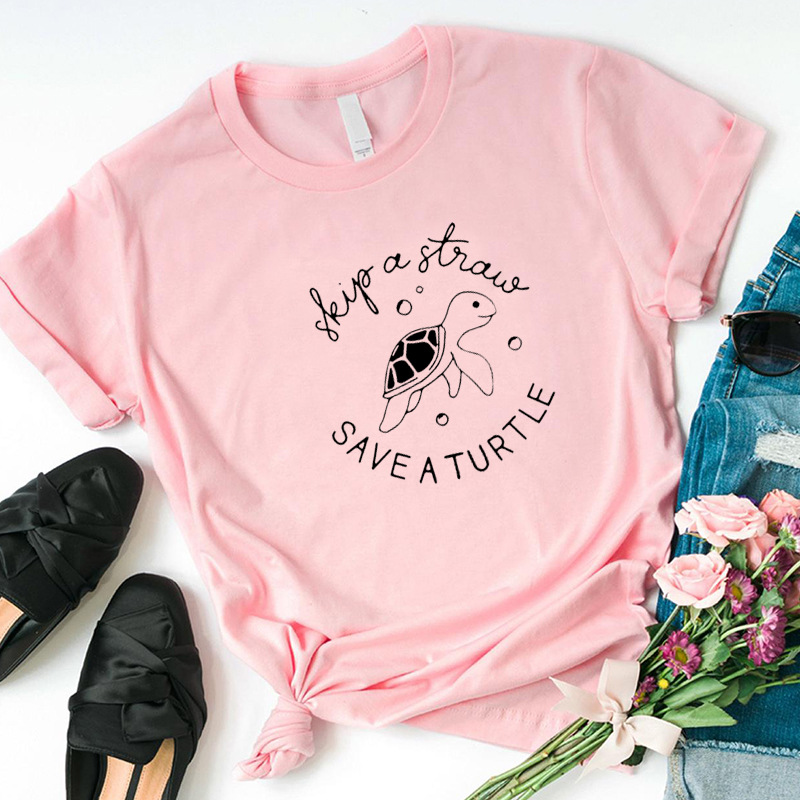 save a turtle t shirt women letter o-neck casual christmas 2019 graphic vintage plus size harajuku shirt streetwear tee