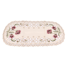 Embroidery Tablecloth Coffee Home-Decor Oval Wedding Party Nordic Tea