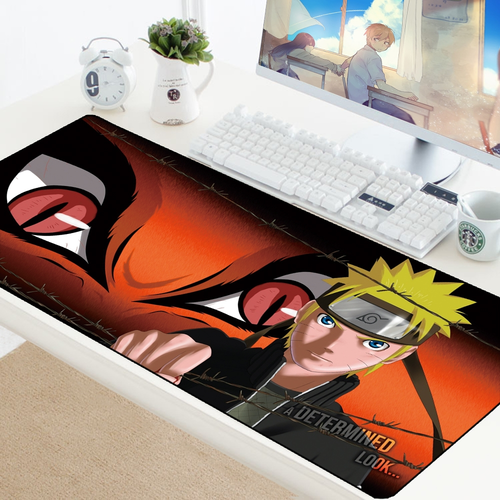 Anime Natural Rubber Naruto Mouse Pad Notbook Computer Pad Mouse Professional Gaming Mousepad Gamer Keyboard Mouse Mats For CSGO