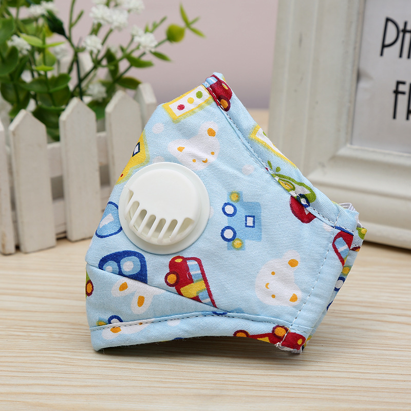 Kid Carton Dustproof PM2.5 Pollution Half Face Mouth Mask Cotton With Breath Wide Straps Washable Reusable Respirator Girls Boys