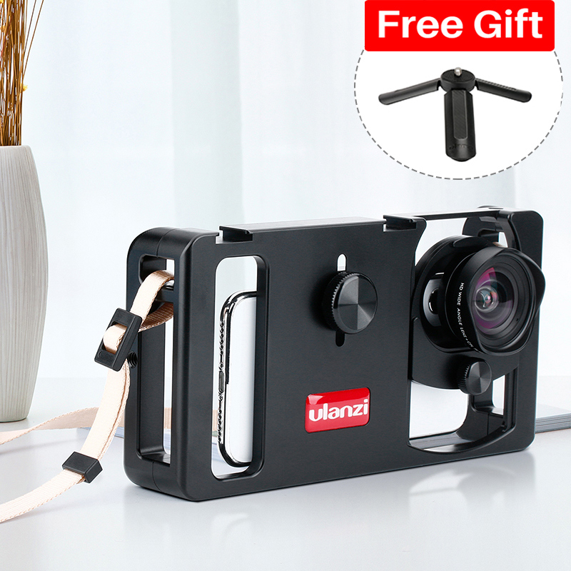 Ulanzi U-Rig Metal Handheld Smartphone Video Rig Vlog Setup Handle Grip Stabilizer W Phone Lens For IPhone Huawei Videomakers