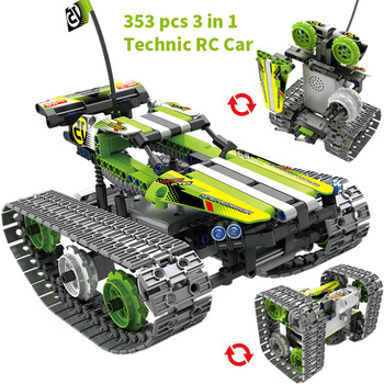Technic Building Blocks DIY RC Car Remote Control Robot Racer Stunt Car 353pcs Building Blocks Bricks Toys For children Gifts 1