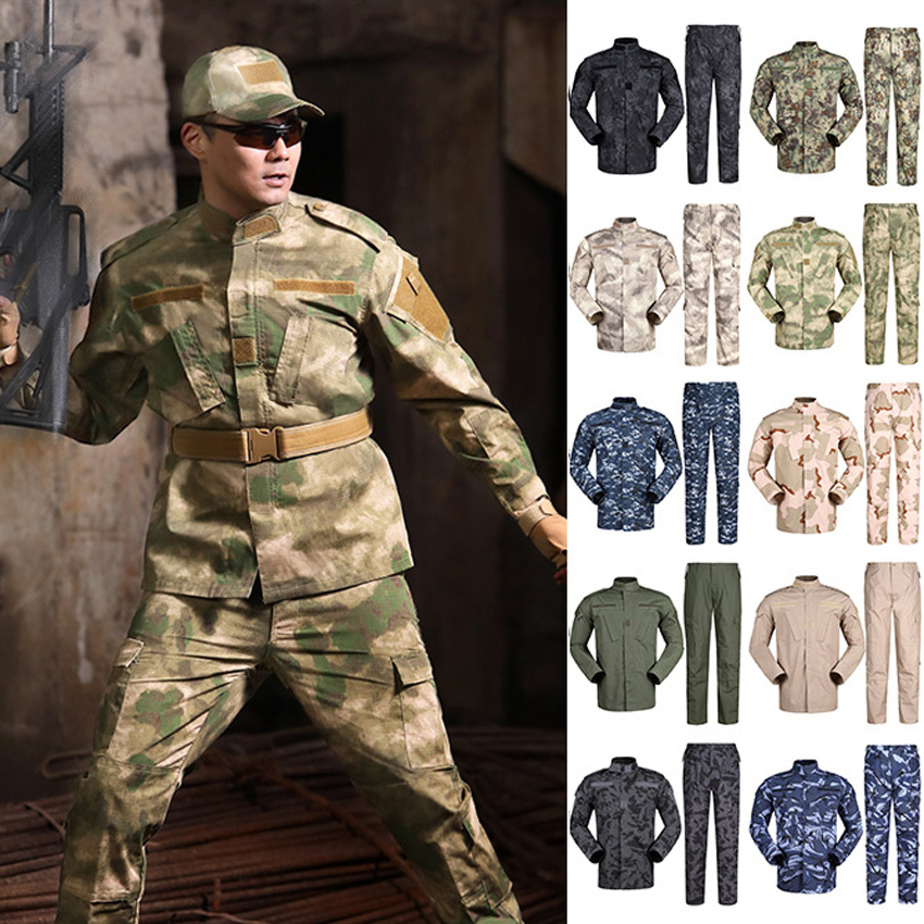 US Army Suit For Man Jungle Desert Multicam Camouflage Military Uniform Hunting Jacket+trousers Navy Tactical Combat Clothes
