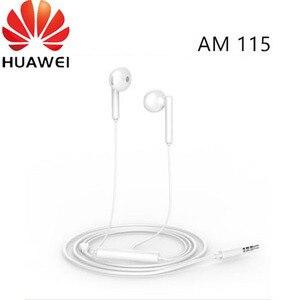 Image 1 - オリジナル Huawei 社 1080p スマート z イヤホン AM115 ハーフインイヤーヘッドセットとマイク/ボリュームコントロール/P10 のためキャンセル p20 lite