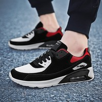 AQLOAC Fashion Men Sport Shoes Patchwork Mesh Air Cushion Damping Running Shoes Man Jogging Train Fitness Sneakers Casual
