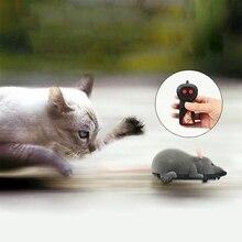 Беспроводной пульт дистанционного управления Радиоуправляемая электронная Крыса Мышь для кошки собаки домашняя забавная игрушка