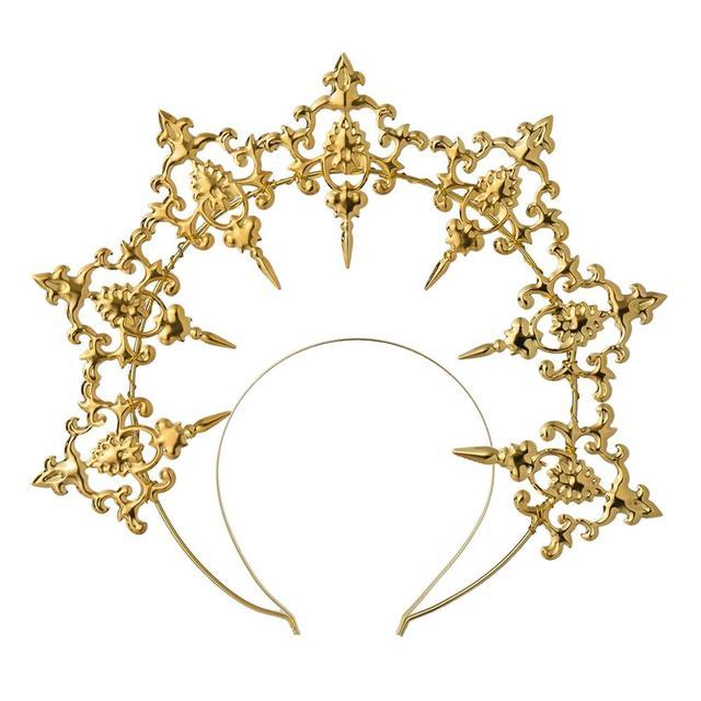 serre tete gothique en or