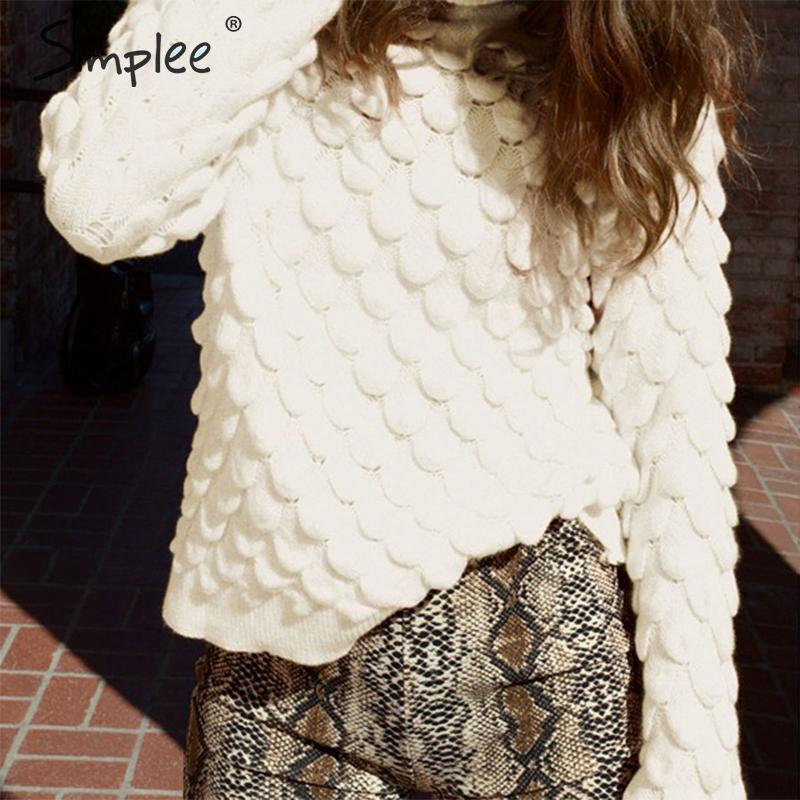 Simplee Turtleneck Women Pullover Sweater Autumn Winter Knitted Solid Female Sweater Long Sleeve Casual Streetwear Sweater 2019