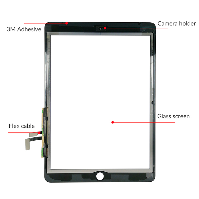 New For iPad Air 1 iPad 5 LCD Outer Touch Screen Digitizer Front Sensor Glass Display Touch Panel Replacement A1474 A1475 A1476 5
