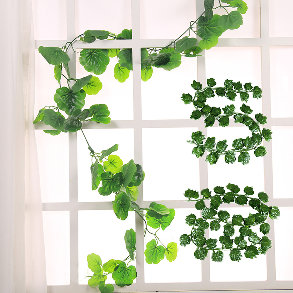 12pcs 3 Style Room Grape Vines Party Hanging Green artificial Decoration Ivy 7.5ft 36/72 leaves Artificial Home Decor Garden-2