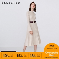 SELECTED Woman Wool Jacquard Knitted Mid length Dress S | 418446505
