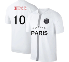 NEYMAR MBAPPE Messi  PSG Ligue Patch  Summer  Men Large size Soccer Jersey Adult Football Shirt Children
