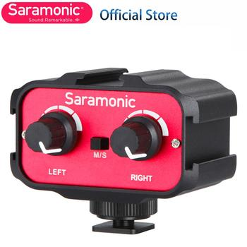 Saramonic Universal Microphone Audio Adapter Mixer with Stereo & Dual Mono 3.5mm Inputs for Canon Nikon DSLR Camera Camcorder