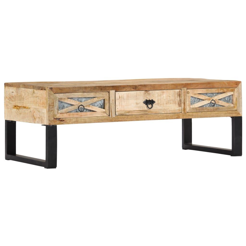 VidaXL Coffee Table 110x50x38 Cm Solid Mango Wood