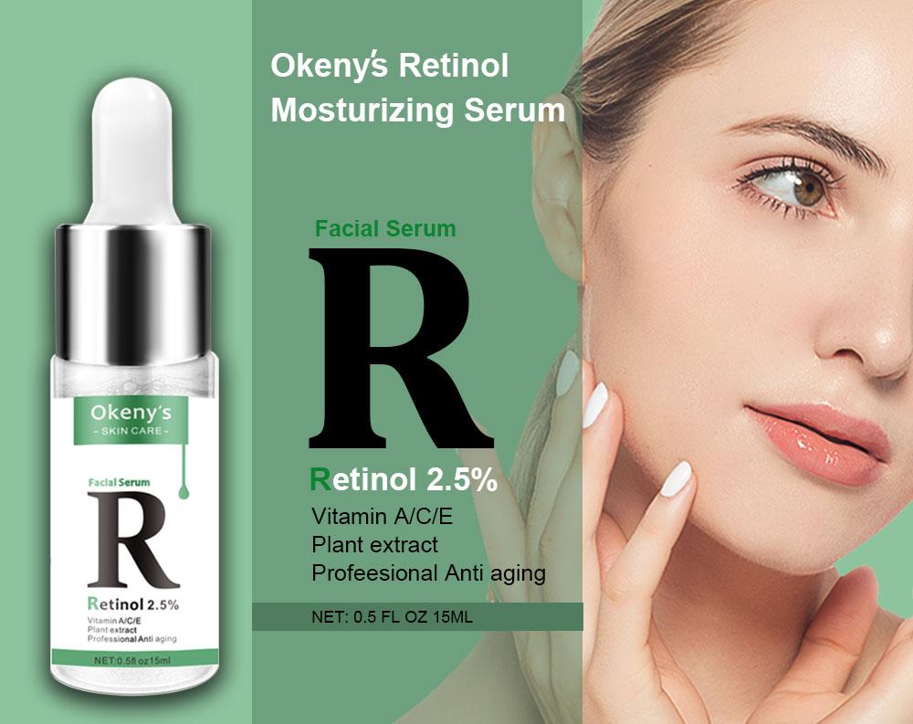 Ретинол 2.5% Витамин С/Сыворотка для лица против морщин для удаления темных пятен коллагеновая Сыворотка против старения отбеливающая эссенция Сыворотка для лица